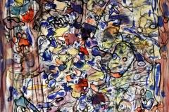 Cartographies Humaines 8 - 65x57 cm Aquarelle, Encre,stylo bille sur papier