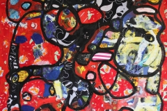 Patchwork 10X100cm  acrylique et collage