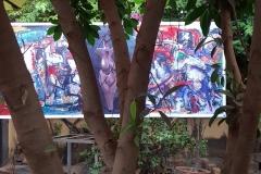 Sculpture de Alain COMBES et peintures de Harouna OUEDRAOGO